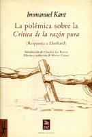 La polémica sobre la Crítica de la razón pura - Immanuel Kant