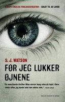 Før jeg lukker øjnene - S.J. Watson