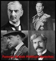 Famous British Political Speeches - Various authors