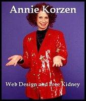 Web Design and Free Kidney - Annie Korzen