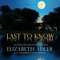 Last to Know - Elizabeth Adler