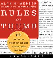 Rules of Thumb - Alan M. Webber