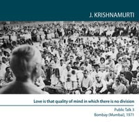 Four Public Talks, Bombay (Mumbai) India 1971 - J. Krishnamurti