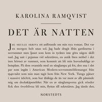 Det är natten - Författaren och den som skriver - Karolina Ramqvist