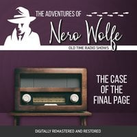 The Adventures of Nero Wolfe: The Case of the Final Page - J. Donald Wilson