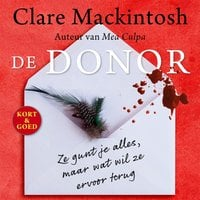 De donor - Clare Mackintosh