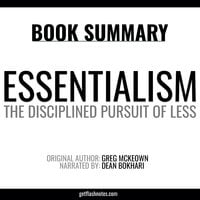 Essentialism by Greg McKeown - Book Summary - Flashbooks