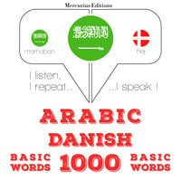 Arabic – Danish : 1000 basic words - JM Gardner