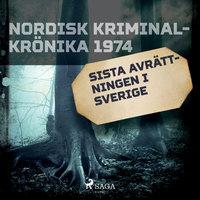 Sista avrättningen i Sverige