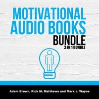 Motivational Audio Books Bundle: 3 in 1 Bundle, Motivation Manifesto, Motivation, Posture - Adam Brown, Rick M. Matthews and Mark J. Wayne