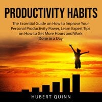 Productivity Habits: The Essential Guide on How to Improve Your Personal Productivity Power, Learn Expert Tips on How to Get More Hours and Work Done in a Day - Hubert Quinn