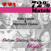 72% Match - Dalia Lance, Raymond Cloose