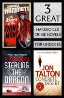 3 Great Hardboiled Crime Novels - Jon Talton, Tim Maleeny, Dashiell Hammett