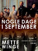 Nogle dage i september - Mette Winge