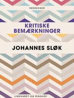 Kritiske bemærkninger - Johannes Sløk