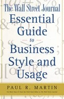 The Wall Street Journal Essential Guide to Business St - Paul Martin