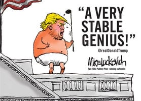 A Very Stable Genius - Mike Luckovich