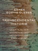 Transcendental historie. Overvejelser angående den menneskelige erkendelse - Søren Gosvig Olesen