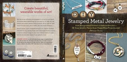 DIY Stamped Metal Jewelry - Adrianne Surian
