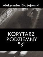 """Korytarz podziemny """"B"""" - Aleksander Błażejowski"""