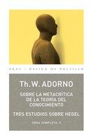 Sobre la metacrítica de la teoría del conocmiento - Theodor W. Adorno