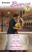 Inocencia oculta - Comprada por un griego - Matrimonio forzado - Julia James,Melanie Milburne,India Grey