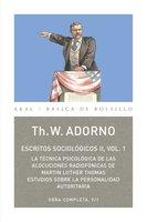 Escritos Sociológicos II. Vol. 1 - Theodor W. Adorno