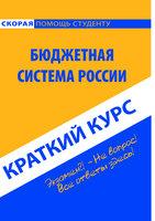 Бюджетная система России. Краткий курс - Коллектив авторов