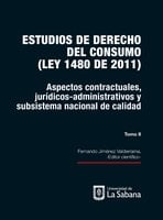 Estudios de derecho de consumo. Tomo II - Fernando Jiménez Valderrama
