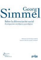 Sobre la diferenciación social - Georg Simmel