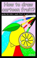 How to draw cartoon fruit? - Suzy Makó