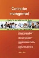 Contractor management Complete Self-Assessment Guide - Gerardus Blokdyk