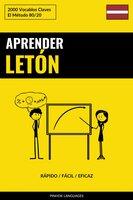 Aprender Letón - Rápido / Fácil / Eficaz - Pinhok Languages