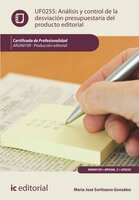 Análisis y control de la desviación presupuestaria del producto gráfico. ARGN0109 - María José Sorlózano González